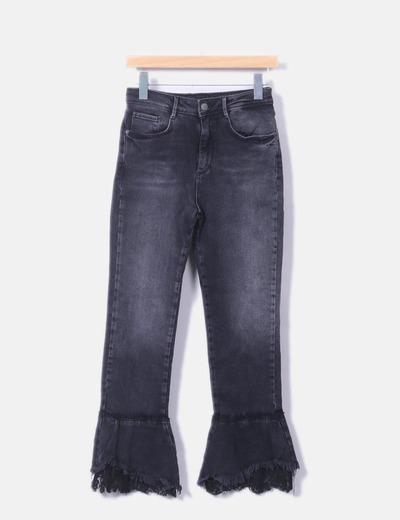 Zara Jeans con cappuccio in denim nero (sconto 74%) - Micolet 1ae9dfd1445
