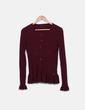 Jersey tricot canalé burdeos NoName