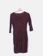 Vestido burdeos jaspeado drapeado Zara