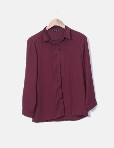 Flowing garnet shirt Akoz