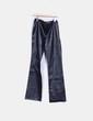 Pantalón negro de polipiel Zara