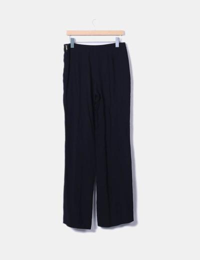 Pantalon negro palazzo con tachas
