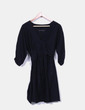 Vestido negro fluido semitransparente Zara