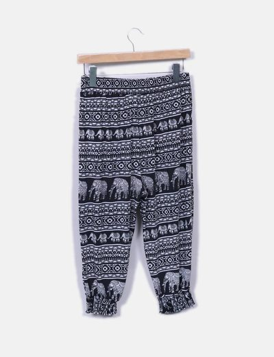 Pantalon baggy estampado pirata