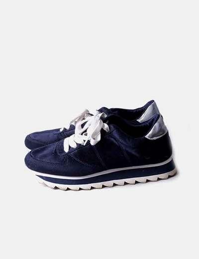 Zapatillas con plataformas azul marino