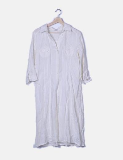 Vestido camisero blanco con cinturón
