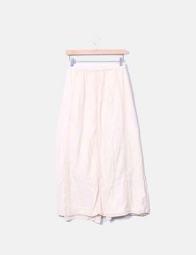 4398f7d89 Maxi falda beige con botones