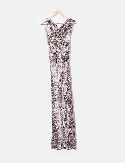 hermosa y encantadora venta más barata salida de fábrica Maxi vestido animal print