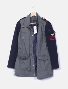chaqueta estilo militar mujer stradivarius
