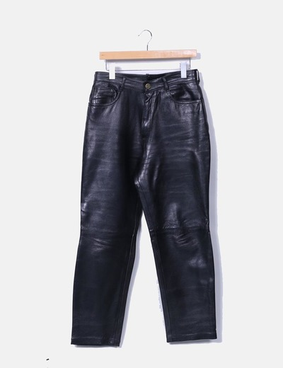 Pantalón de piel negro