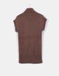Vestido punto grueso marrón chocolate  Pull&Bear