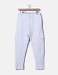 Pantalón deportivo cargo blanco Zara