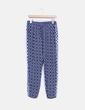 Pantalón baggy azul marino estampado étnico Mango
