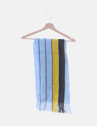 Bufanda azul rayas