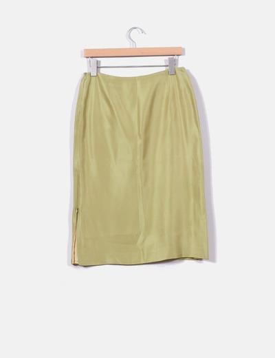 Conjunto top y falda verde