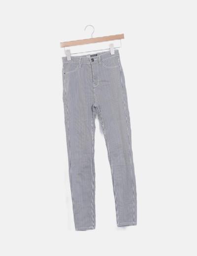 Jeans elástico raya