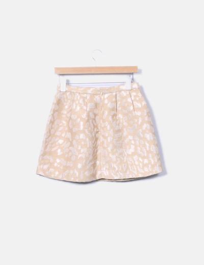 Mini falda glitter dorada