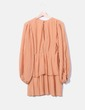 Salmon pleated dress Sfera