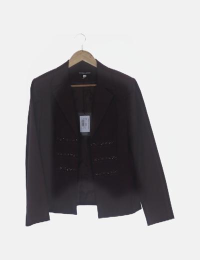 Conjunto pantalón y chaqueta marrón