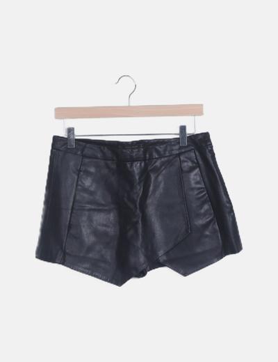 Falda pantalón polipiel