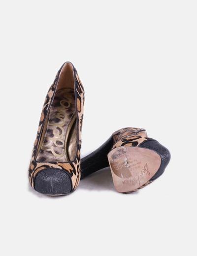 9dc1a4aeaa5a9 Sam Edelman Zapato animal print con tacón negro (descuento 83%) - Micolet