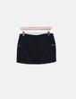 Minijupe noire en tweed à fermetures éclair Zara