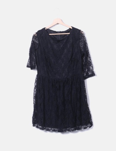Robe noire en dentelle Primark