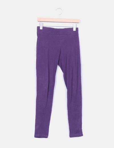 Leggings algodon morado