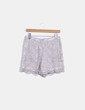 Shorts encaje plateado Maje