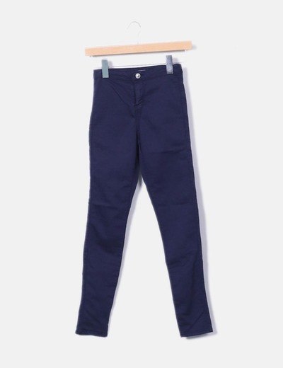 Pantalon bleu marine Bershka