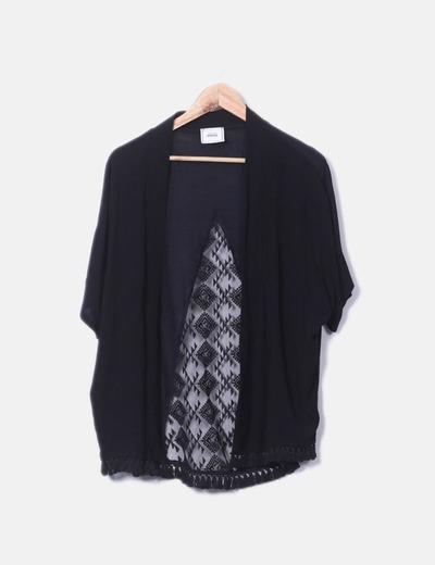 c5c0b4812810 Pimkie Schwarzer Kimono mit Top (Rabatt 65 %) - Micolet