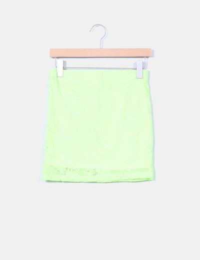 Mini falda elástica amarillo flúor Love to Inside