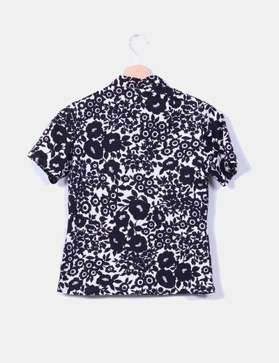 Camisa floral manga corta