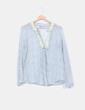 Blusa floral de seda Zara
