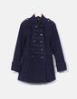 Abrigo azul estilo militar Love Label