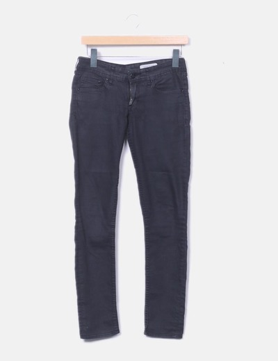 Jeans denim super skinny gris