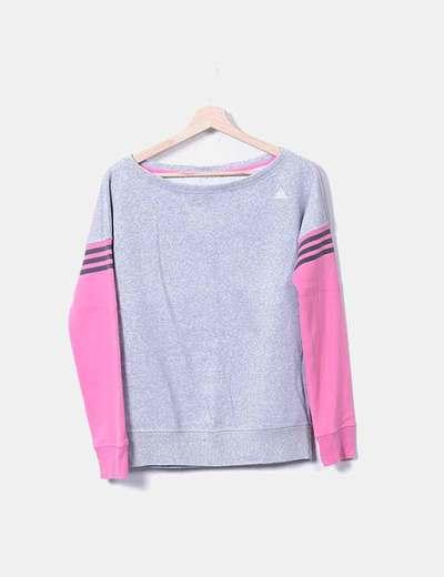 Rosa Micolet Con 77 Adidas sconto Felpa Grigia 7xPw7Raq