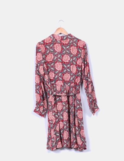 Vestido floral manga larga