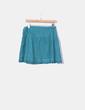 Mini saia verde combinada com rendas Lefties