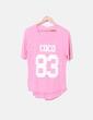 Camiseta rosa print letras Kilibbi