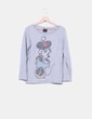 Jersey tricot gris strass Mickey Mousse Disney