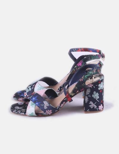 Sandalia estampado floral