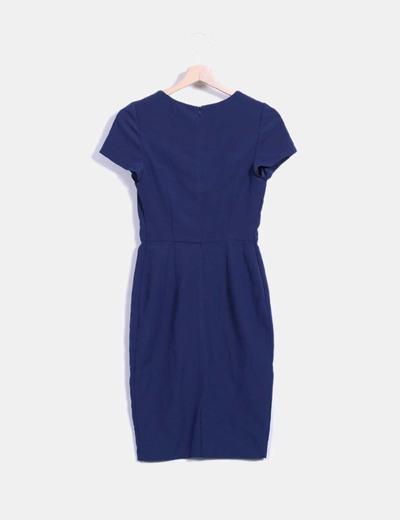 Vestido azul marino entallado