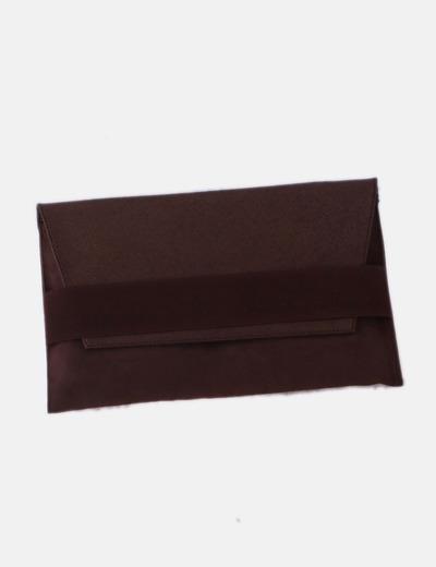 Bolso de mano marrón