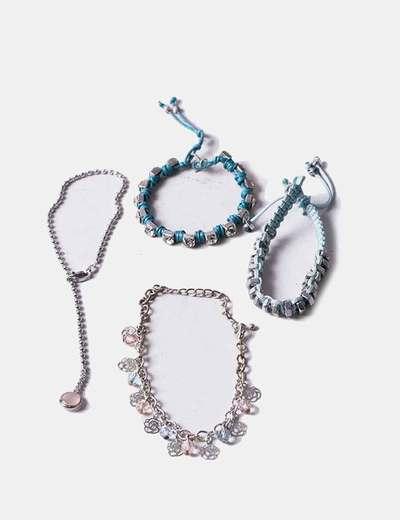 Conjunto de pulseiras combinadas NoName