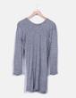 Vestido gris jaspeado letras terciopelo Zara