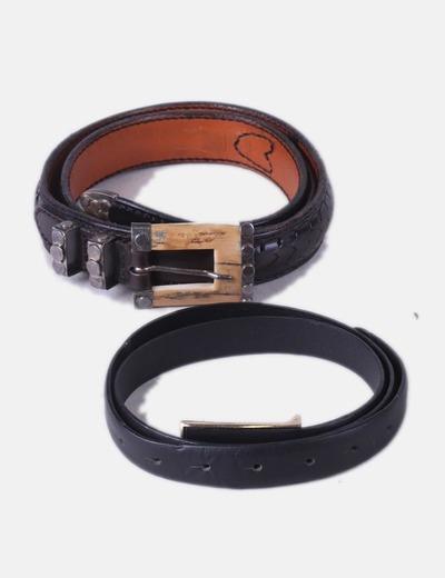 Pack 2 cinturones negros NoName