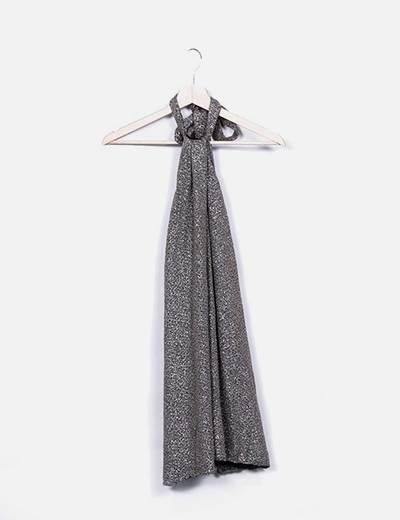 Vestido cuello halter glitter Zara