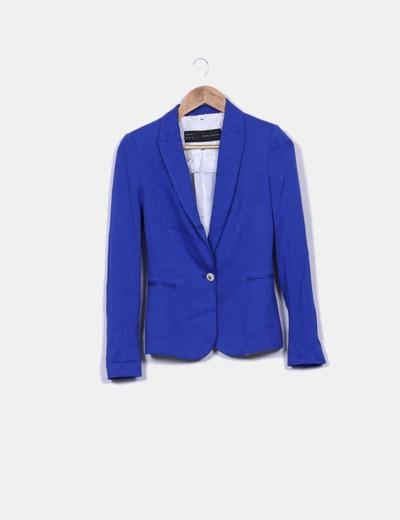 c1f7c1c9bb761 Zara Blazer azul eléctrico (descuento 84%) - Micolet