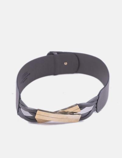 Cinturón gris detalle gold